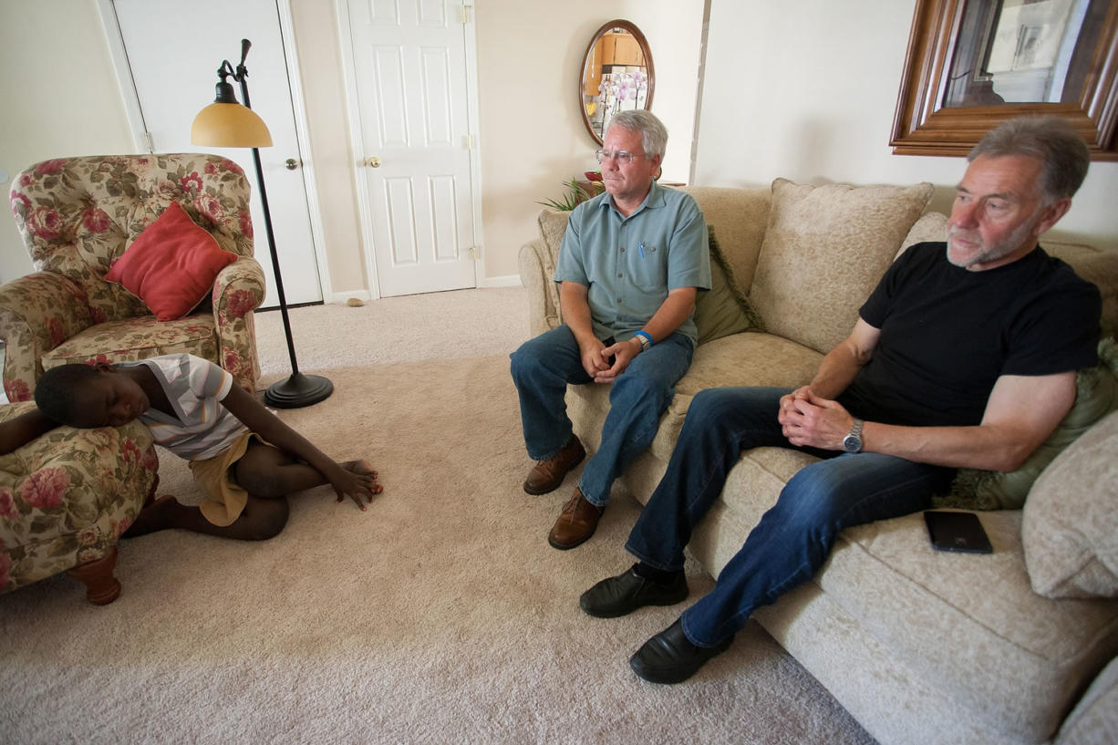 Marriam Biira, Ron Gladden and Mike Davis discuss the process of getting Marriam to the U.S. for medical treatment they hope will allow her to walk again.