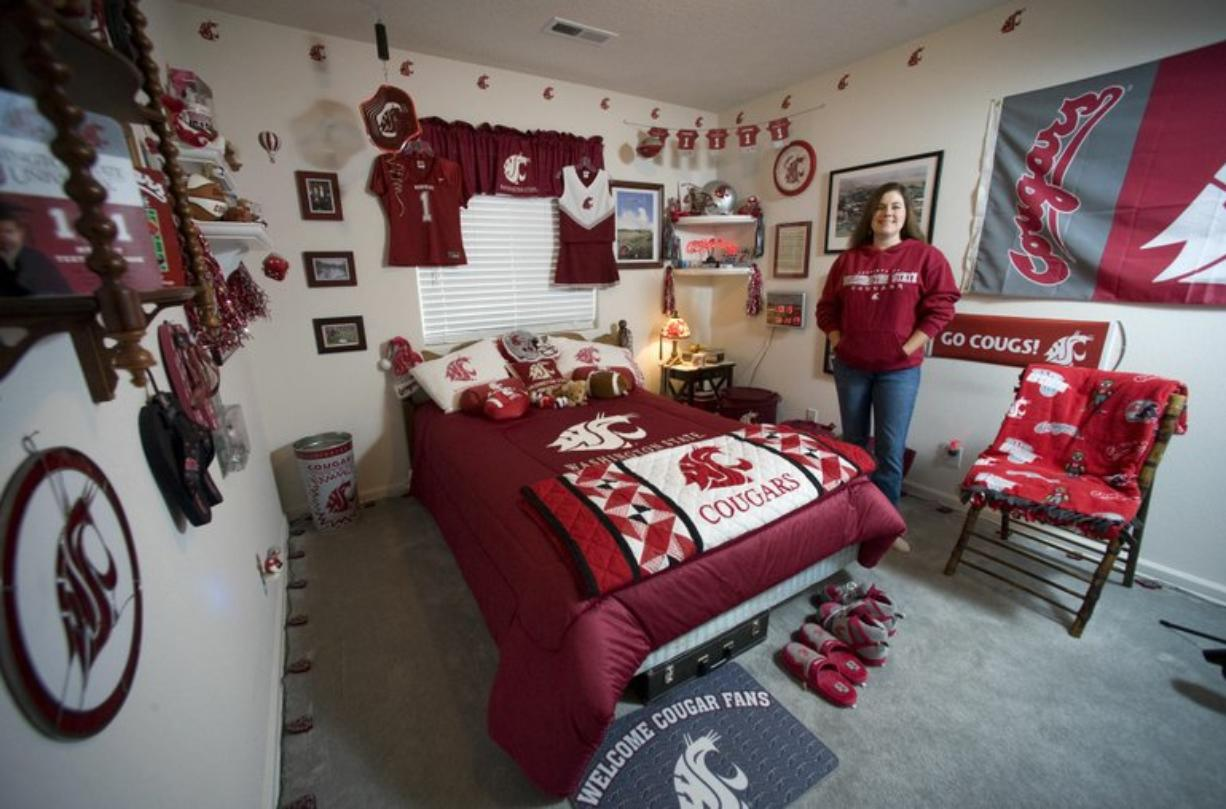 Kelly Ritter, a Washington State University alum and dedicated Cougar fan, is a season ticket holder for the team's football games with her father.