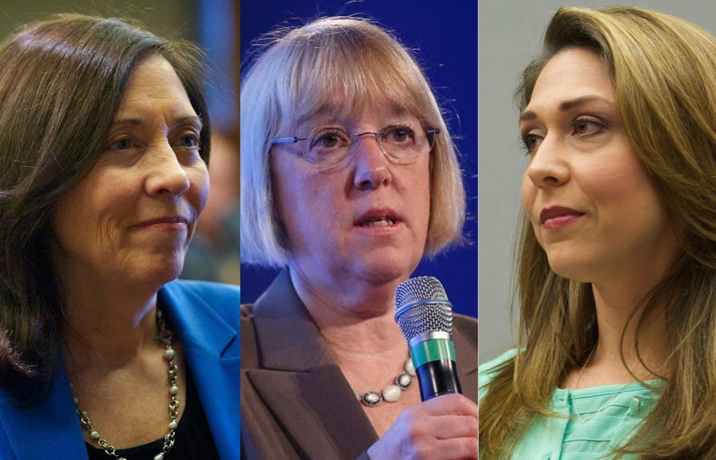 U.S. Sens. Maria Cantwell, from left, and Patty Murray, and U.S. Rep.