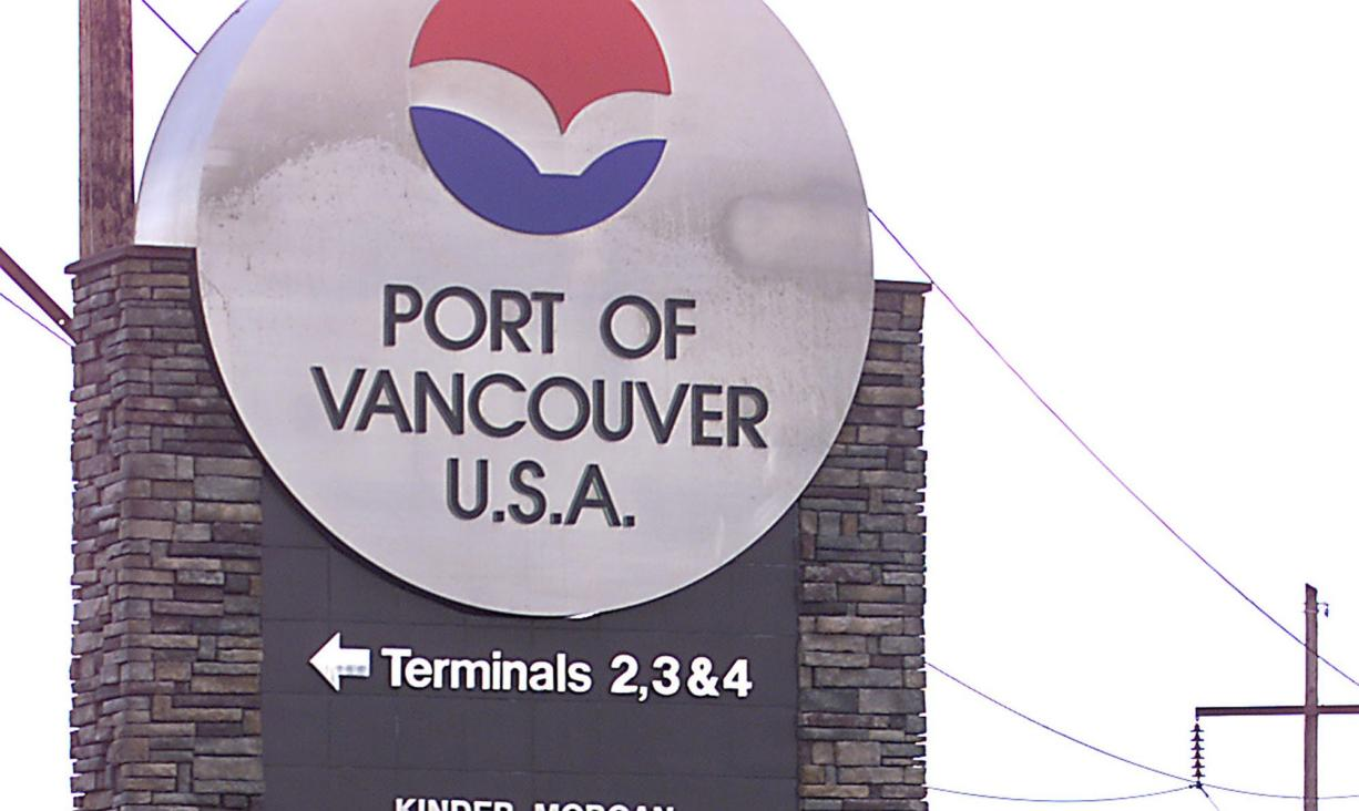 An entrance to the Port of Vancouver.