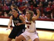 Melissa Williams, right, Eastern Washington University basketball.
