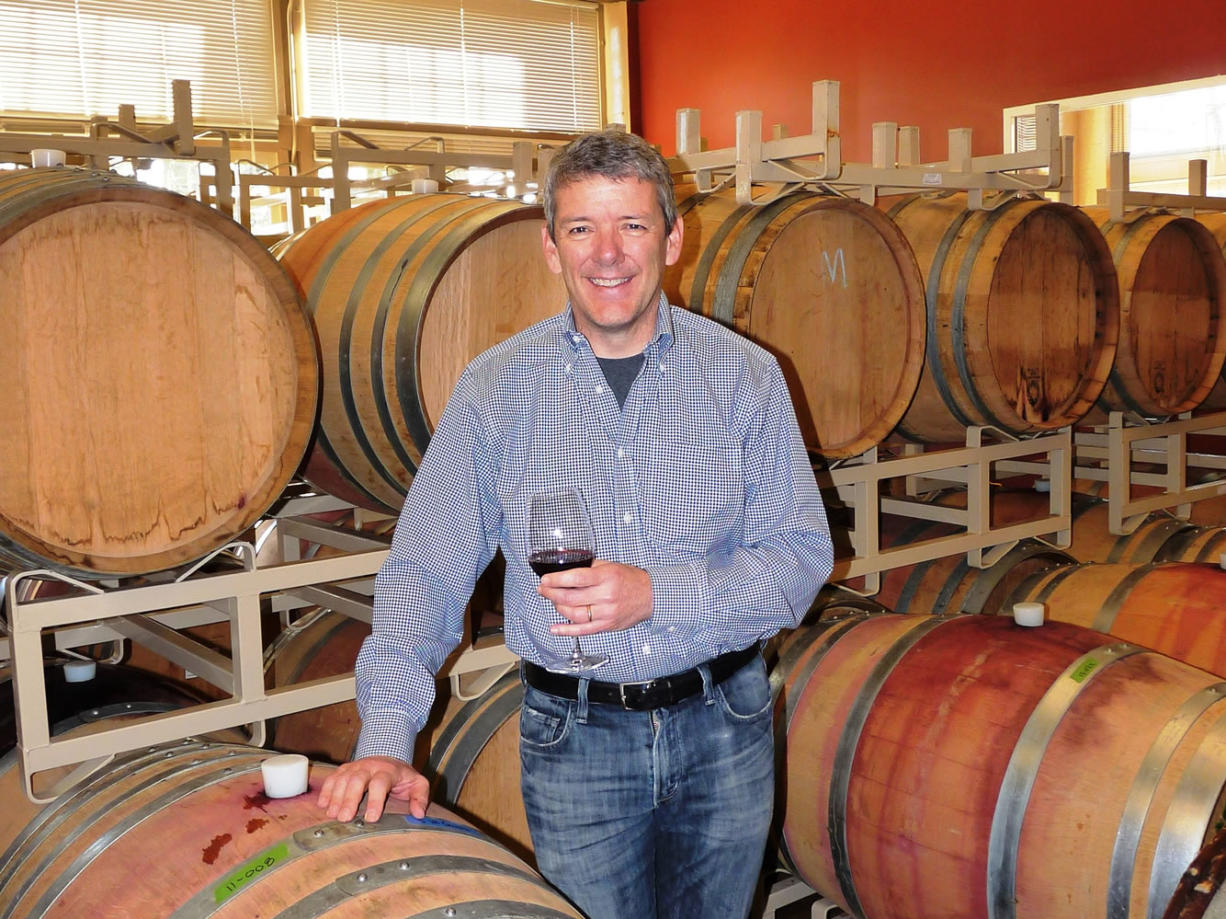 Viki Eierdam Winemaker David Smith blended his interest in chemistry, biology and wine to create a second career at Burnt Bridge Cellars in downtown Vancouver.