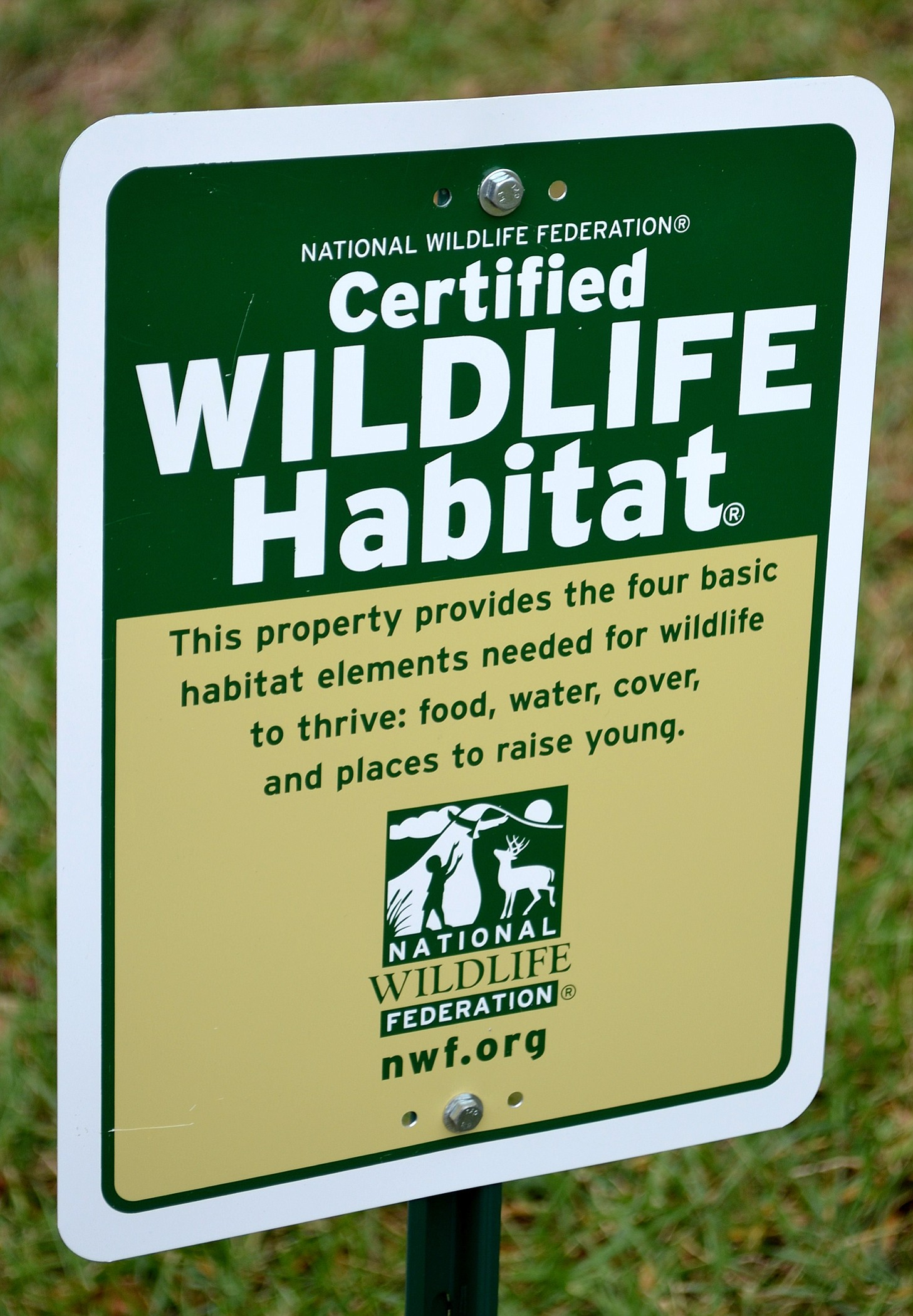 A sign on the grounds of St. Francis of Assisi Catholic Church in Triangle, Va., shown in 2013, identifies it as a certified wildlife habitat.