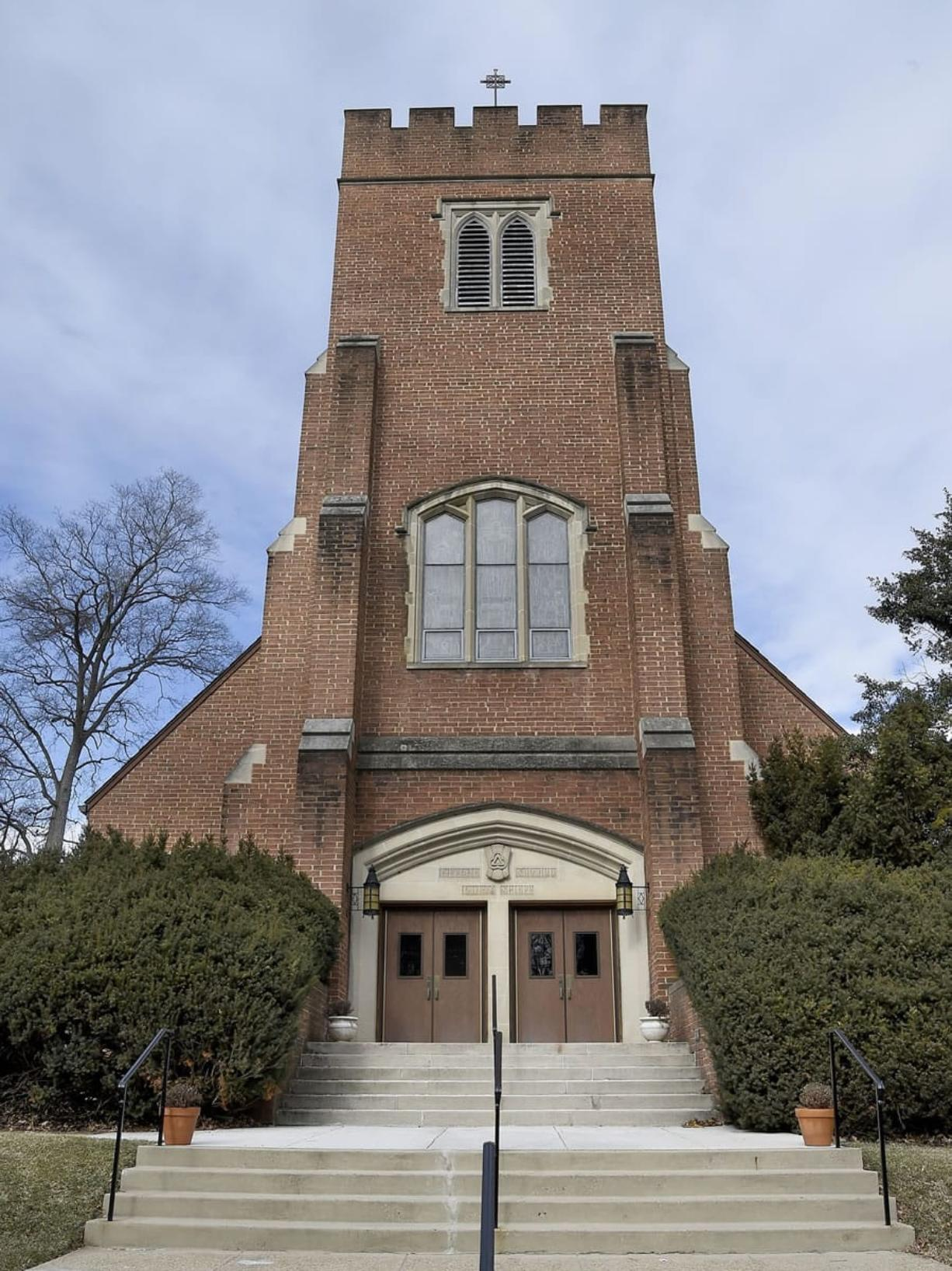 Grace Episcopal Church in Silver Spring, Md., shown here in February, is undergoing a two-year certification process through the New Jersey-based Greenfaith program.