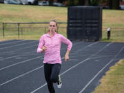Alexa Efraimson of Camas trains at Hudson's Bay High School.