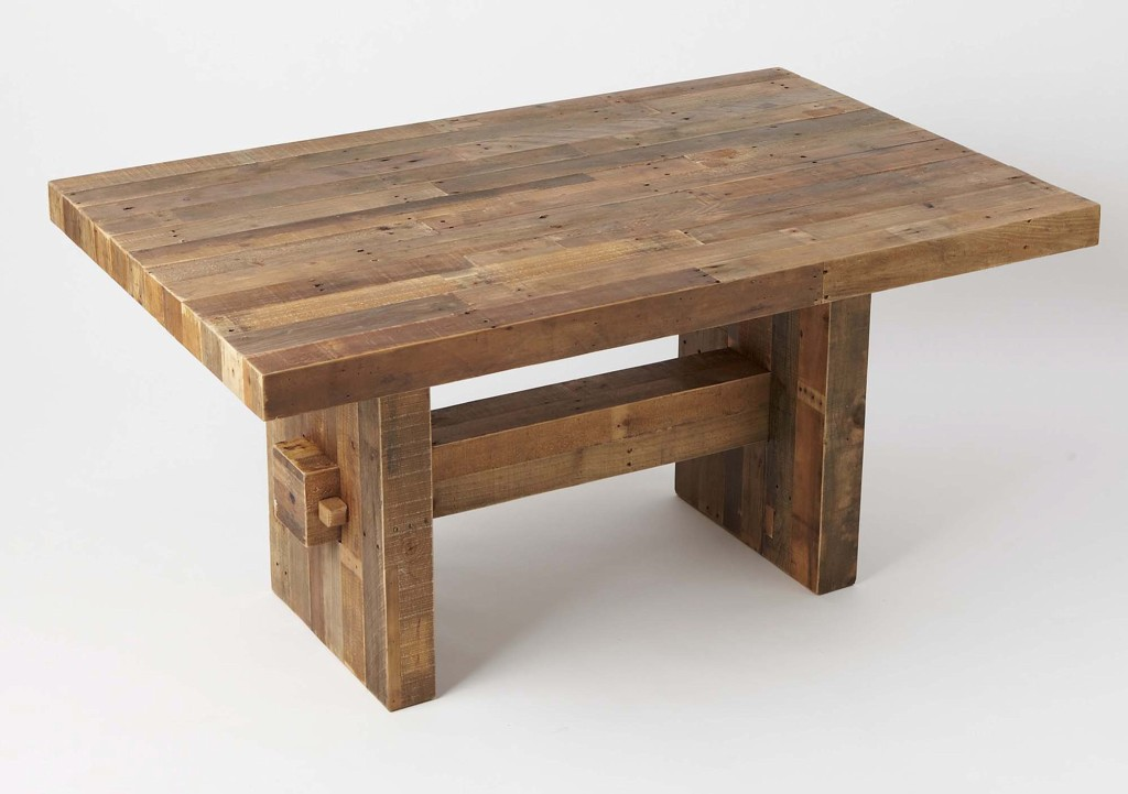 West Elm West Elmu0027s Dining Table, Made Of Reclaimed Pine, Would Hold Up Well