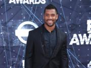 Russell Wilson arrives at the BET Awards at the Microsoft Theater on Sunday, June 28, 2015, in Los Angeles.