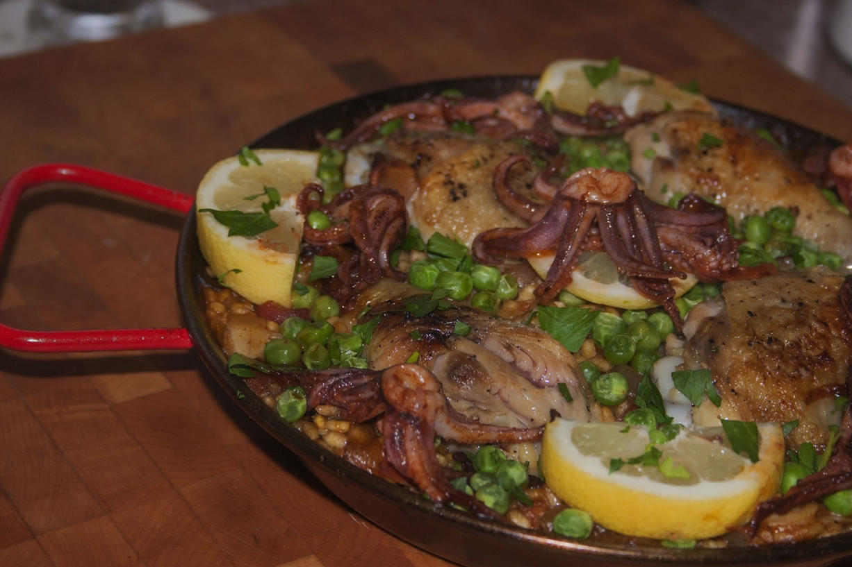 Paella is the Spanish equivalent of barbecue food.
