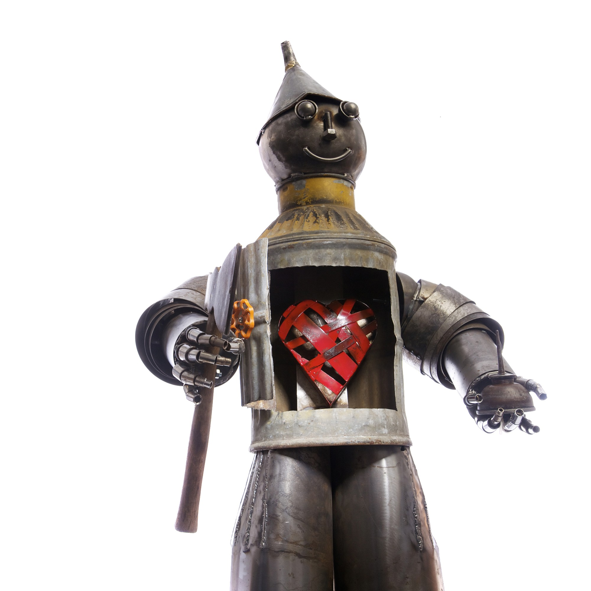 "Columbian files For the ""tinth"" anniversary of Clark County's Recycled Arts Festival, a Tin Man was created by metal artist Joe Clifton. It housed a temporary heart until a new one could be chosen at the Recycled Arts Festival."