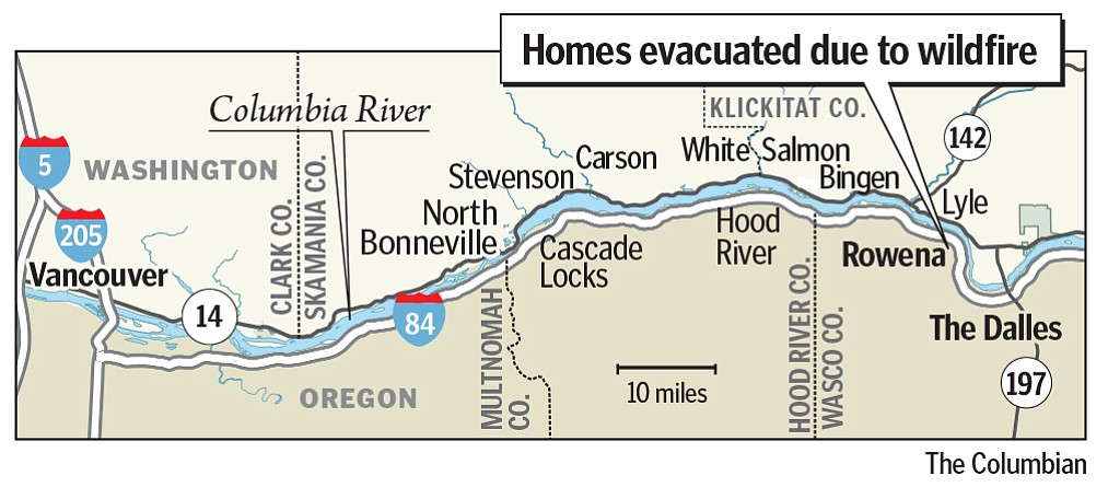 Cascade Locks Fire Map.Columbia River Gorge Wildfire 275 Households Told To Flee The