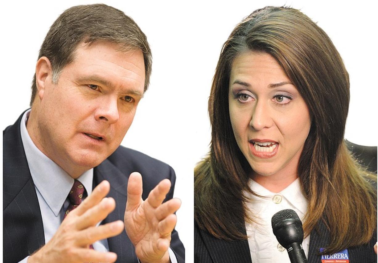 Democratic candidate Denny Heck and Republican candidate Jaime Herrera
