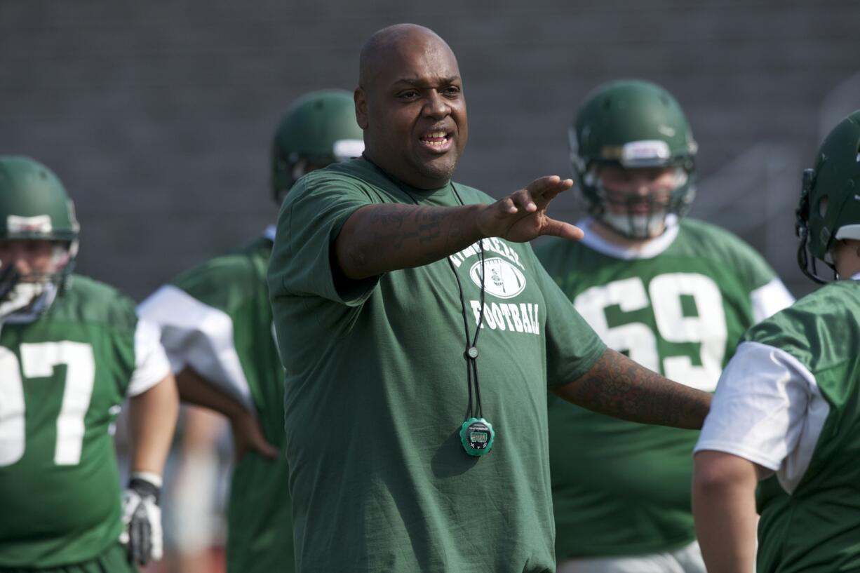 Evergreen High School football coach Don Johnson Jr.
