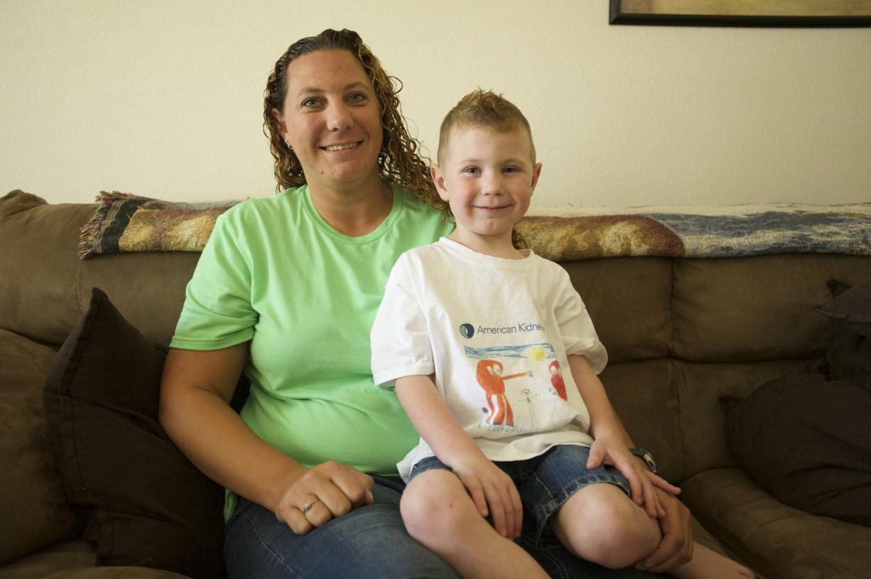 Five-year-old Ethan Norton and his mom, Breanna, are adjusting to life after Ethan's January diagnosis of nephrotic syndrome, a kidney disorder.
