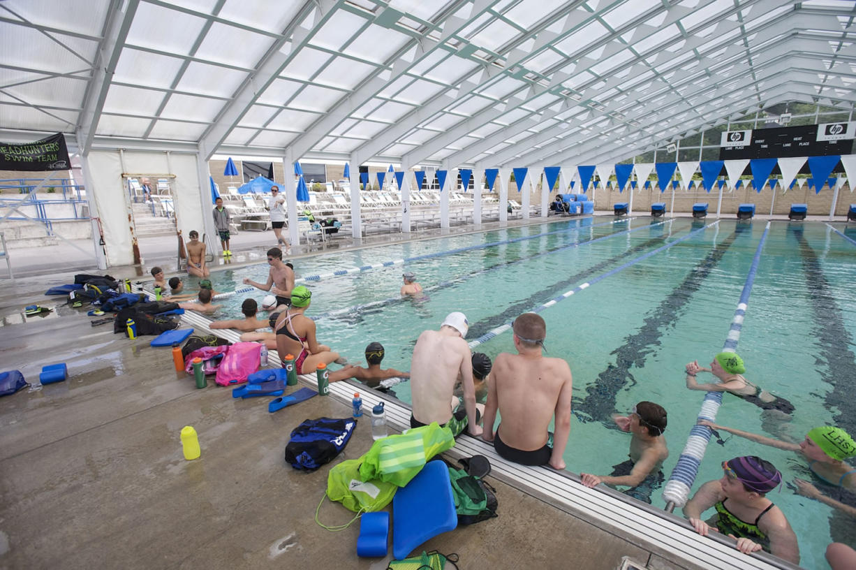 The LaCamas Headhunters swim team practices at LaCamas Swim and Sport.