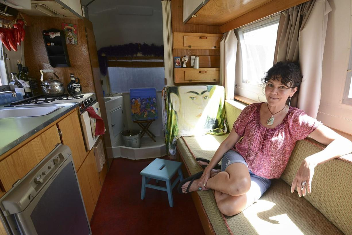 Bartender Deanna Wohlgemuth provides bar service at weddings and private parties from her 1965 Airstream camper, dubbed the Tin Cantina.