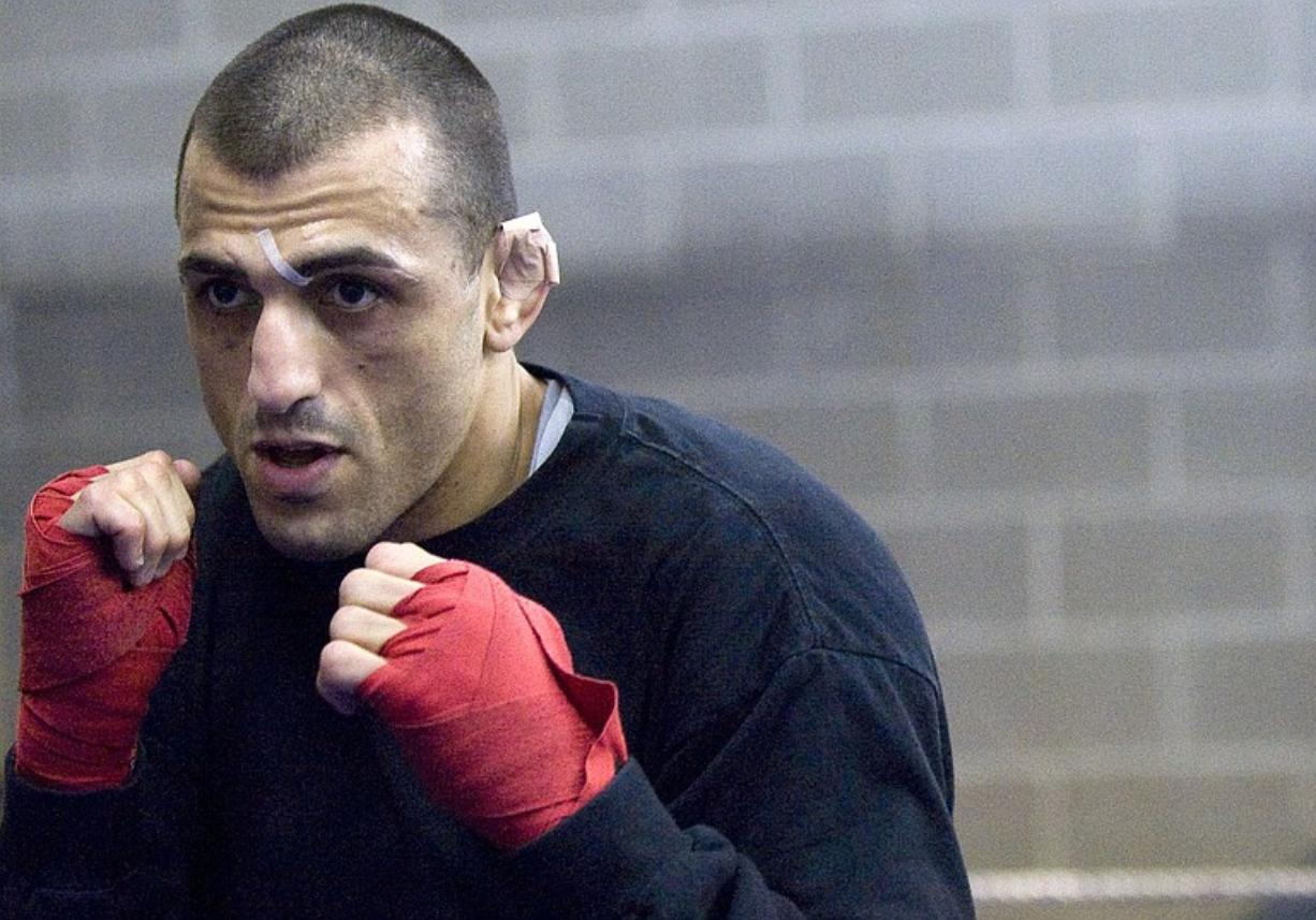 Zachary Kaufman/The Columbian Mixed martial arts fighter George Sotiropoulos moved to Vancouver in November to train with Leonard Gabriel at Fisticuffs Gym. Sotiropoulos will fight in UFC 110 Saturday in his native Australia.