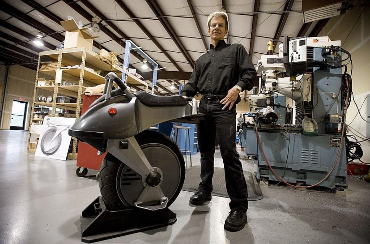 Chris Hoffmann, founder and chief executive officer of Ryno Motors, built the first prototype of his one wheel motorcycle with about $3,500. The company is now working on its third prototype.