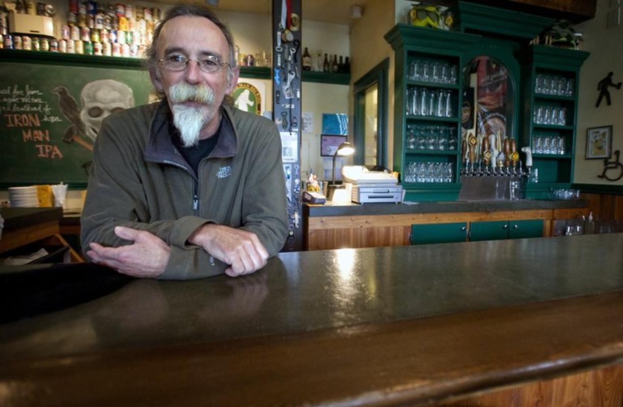 Walking Man Brewing owner Bob Craig pauses for a moment at the pub in Stevenson.