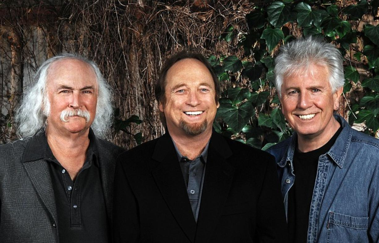 Crosby, Stills & Nash will perform June 11 at the Sleep Country Amphitheater in Ridgefield.