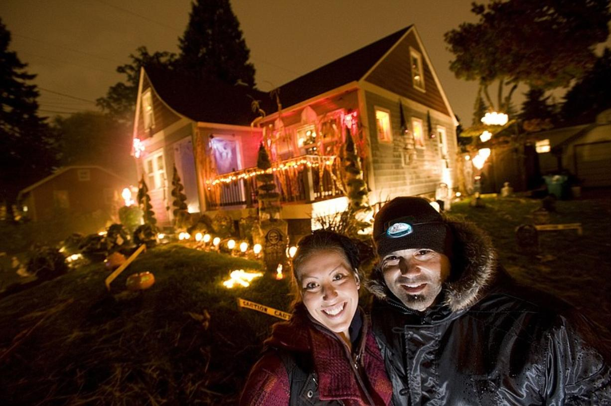 Maria O'Conner and David Torres decorated their home at 3205 Grant St. in Vancouver.