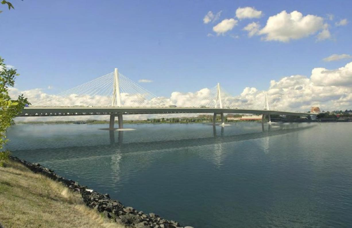 A cable-stayed design is one of the options for a new Interstate 5 bridge over the Columbia River.