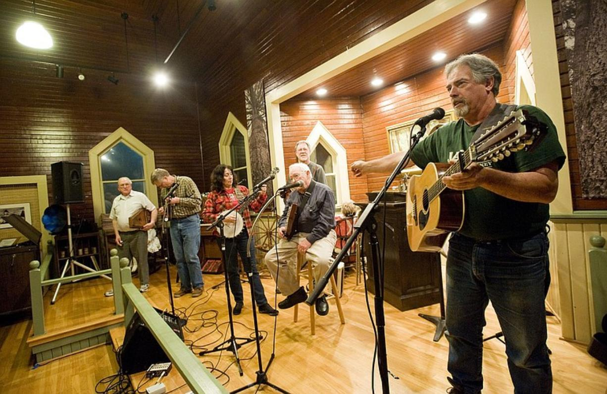 Wayne Hoffman hosts an open mic March 4 at the North Clark County Historical Museum in Amboy.