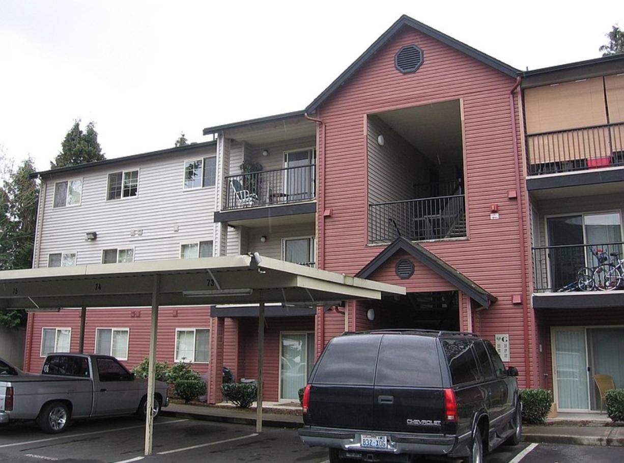 A Vancouver couple accused of holding their two young autistic boys captive in a caged room live in this apartment complex on Northeast 66th Avenue.