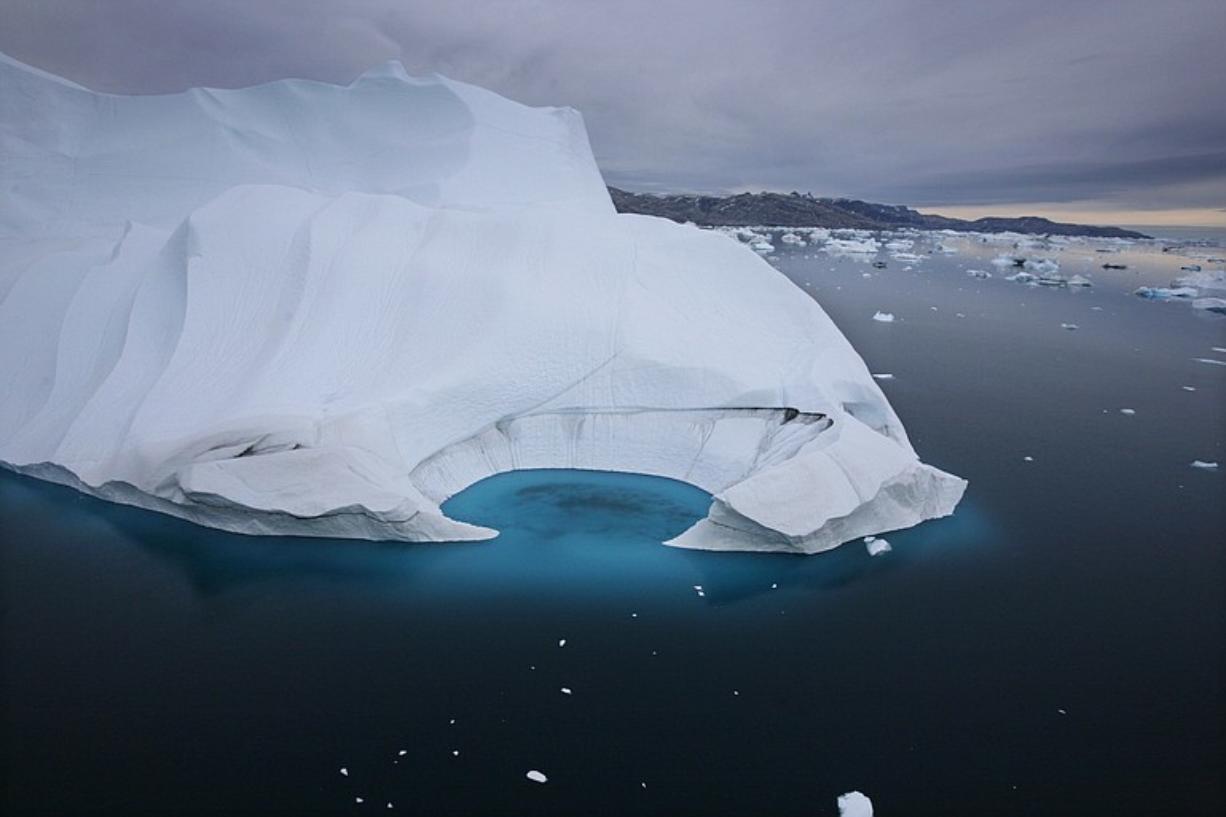 An iceberg is seen off the coast of Ammasalik, Greenland in 2007.