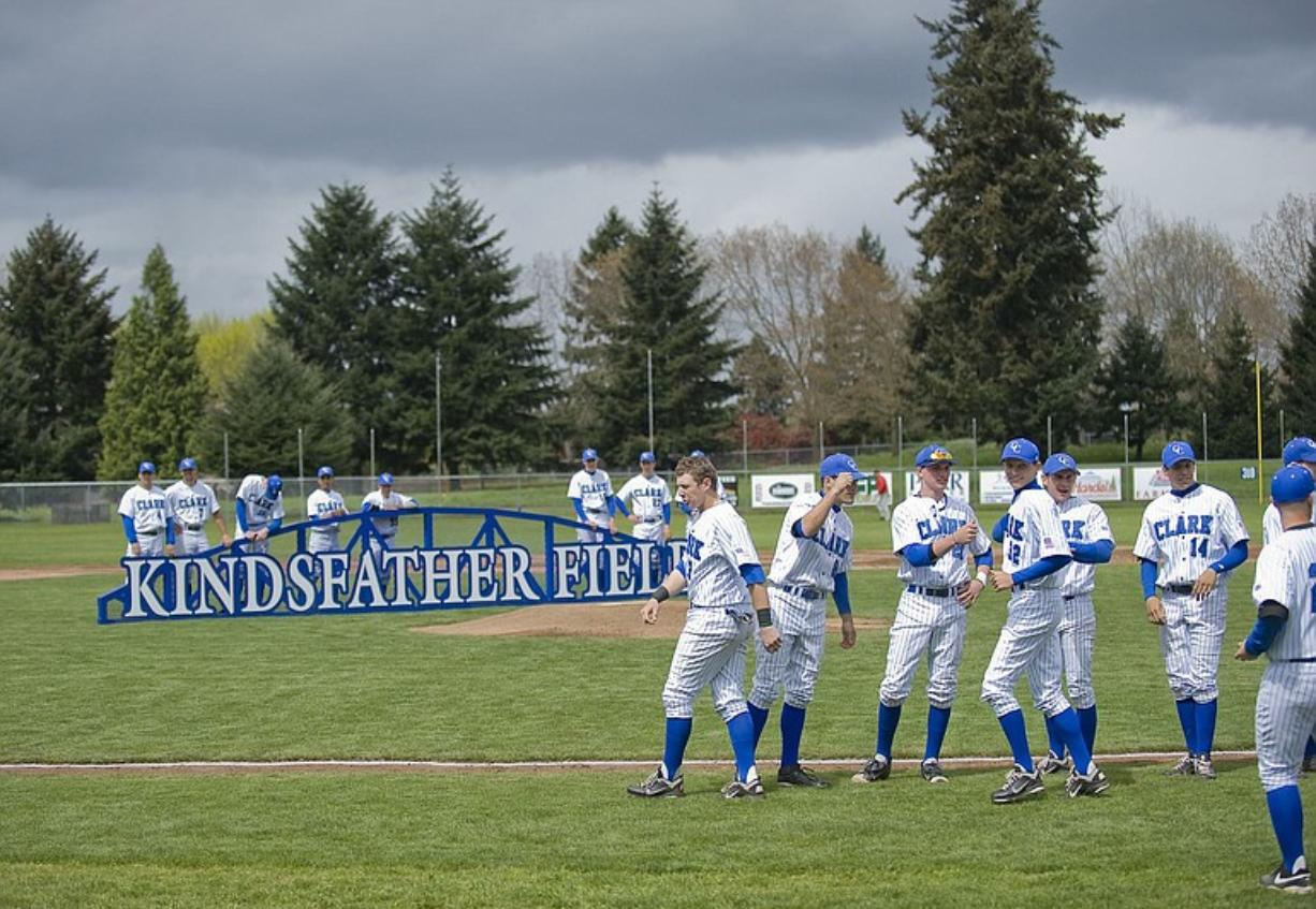 After a 19 year hiatus Clark College puts a baseball team on a newly dedicated Vern Kindsfather Field on Saturday May 7, 2011.