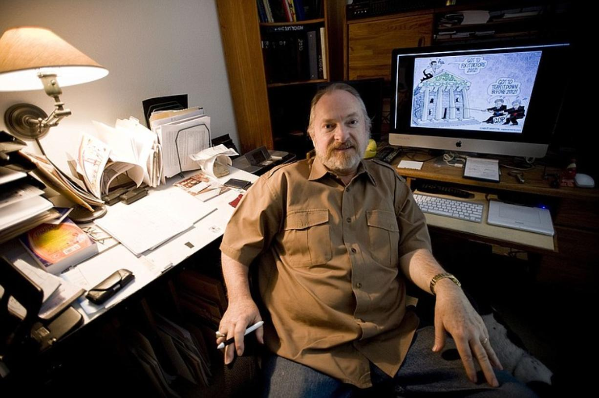 Battle Ground resident Monte Wolverton's editorial cartoons are syndicated to more than 850 newspapers around the world.