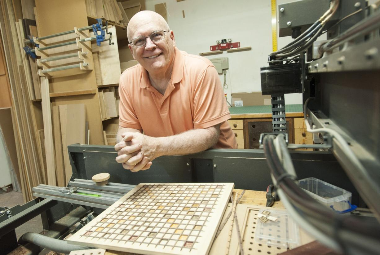 Woodworker Dave Smith is at home in his woodshop in Vancouver.