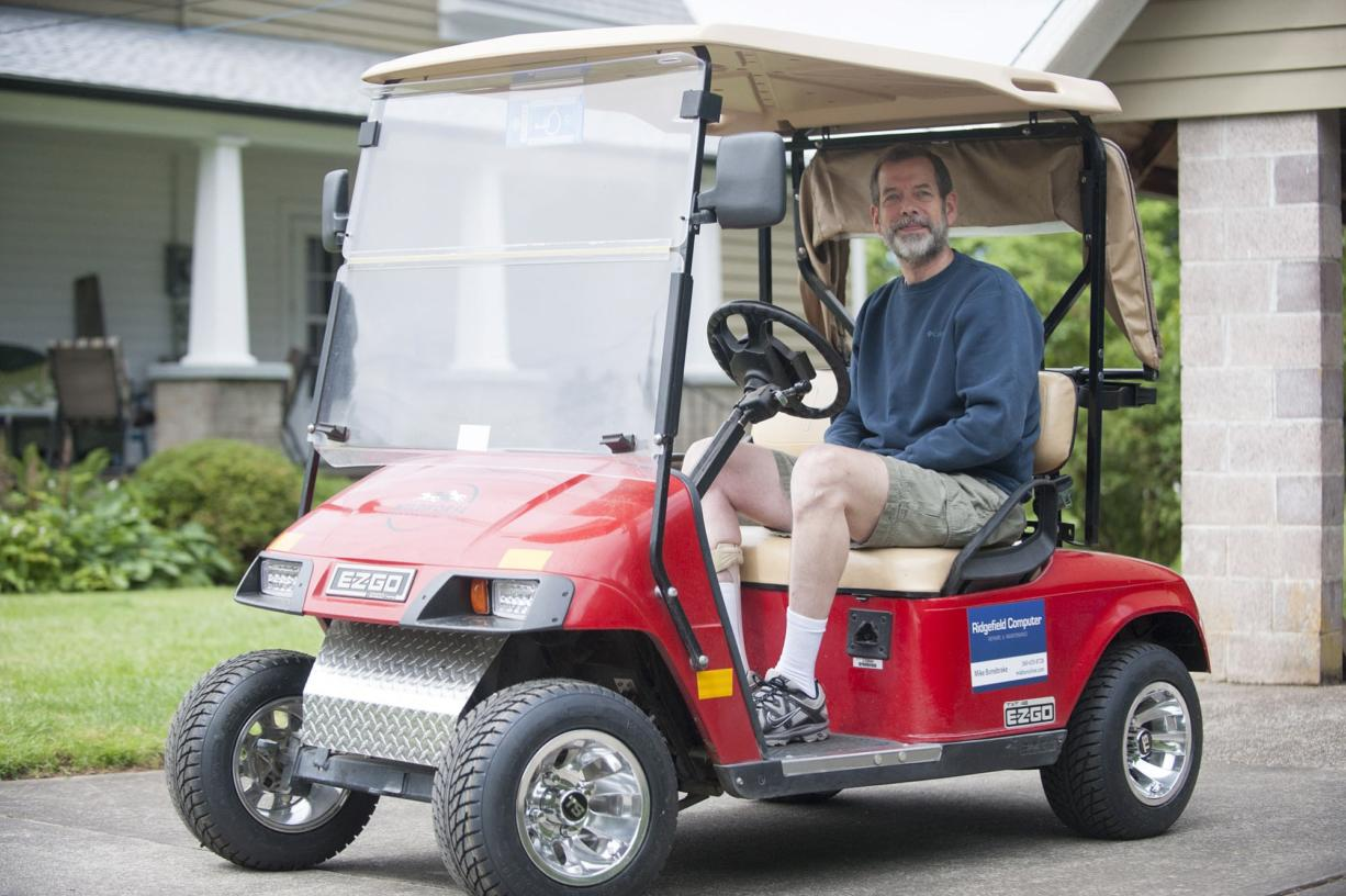 Ridgefield resident Mike Bonebrake fought for more than a year to see a golf cart zone implemented  in the city. That vision became a reality this month.