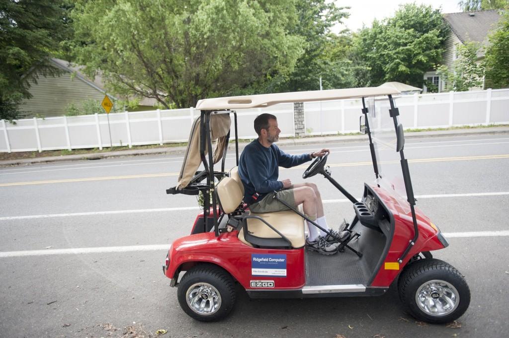 Golf cart zone brings freedom in Ridgefield | The Columbian Driving Golf Carts Streets on street signs, street atv, street go cart, harley carts, street shoes, custom ezgo industrial carts, cricket carts,