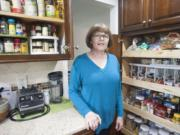 Professional organizing consultant Cathy Sevier shares her carefully appointed kitchen pantry.