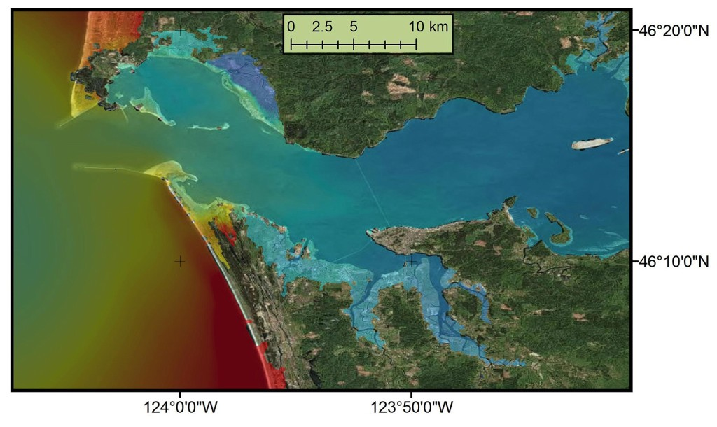 A Study By Oregon State University Researchers Found That Tsunami Could Surge Far Inland Along