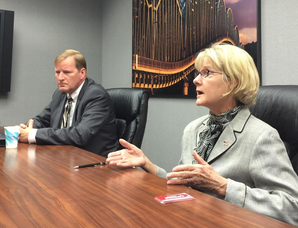 Democrat Craig Pridemore and Republican Jeanne Stewart discuss their race with The Columbian Editorial Board.
