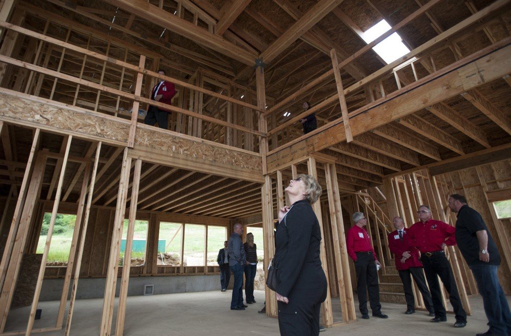 Visitors Tour The First Home To Be Built In Camas New Deerhaven Subdivision A