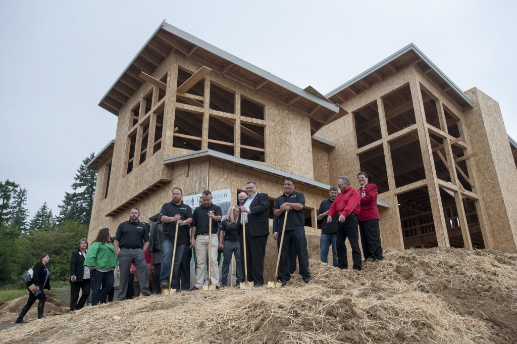Visitors Mark The Ground Breaking Thursday For Deerhaven Subdivision Of Luxury Homes In