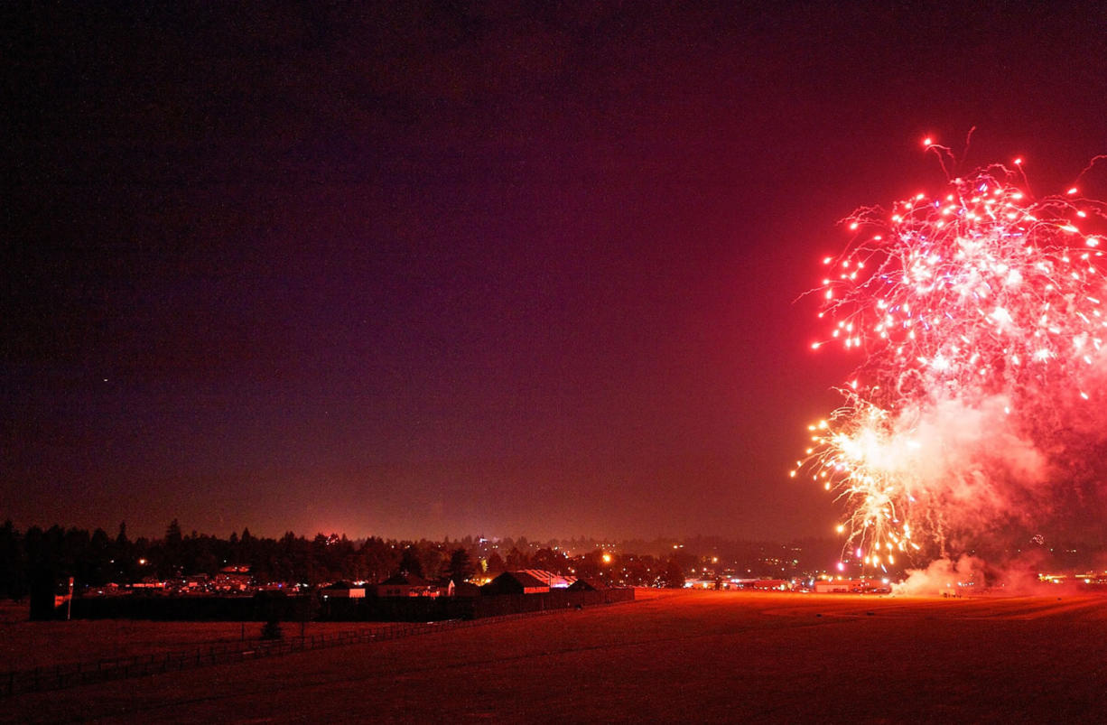 Fireworks during the Fourth of July celebration at Fort Vancouver on Friday.