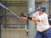 "Concordia University first baseman Mariah ""Mo"" Jimenez."