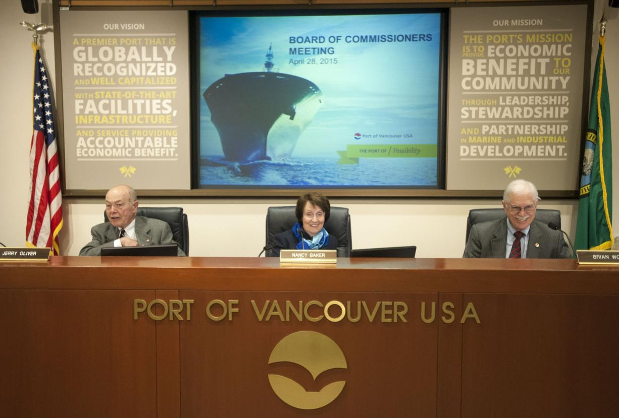 Port of Vancouver commissioners Nancy Baker, Jerry Oliver and Brian Wolfe, and port CEO Todd Coleman have come under public criticism for advancing a lease for what would be the nation's largest rail-to-marine oil transfer terminal.