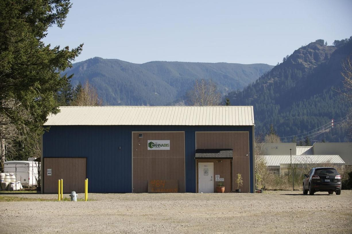 The Cannabis Corner, which opens on Saturday in North Bonneville, is housed in a building that was once a pole barn. Despite its humble past and isolated location, the building was a competitive location for a pot shop.