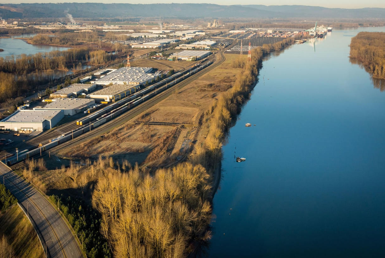 At one point, the Port of Portland considered a vacant swath of land (pictured above between the rail tracks and water) near its Terminal 6 as a potential site for an oil-by-rail terminal.