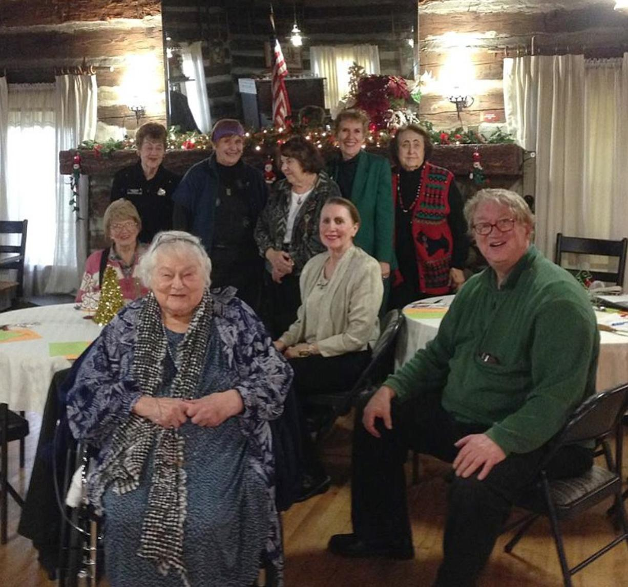 Jean Norwood, front left, participated in the Dec. 8 meeting of the Vancouver Women's Club.
