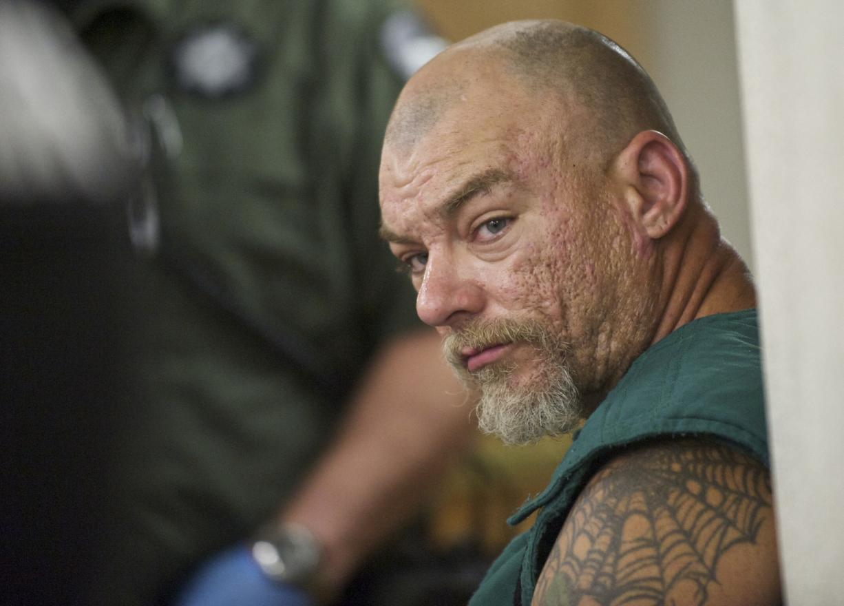 James Todd Sapp, a convicted felon who claims ties to a white supremacist group, was arrested on suspicion of first-degree attempted murder, first-degree robbery and unlawful possession of a firearm after allegedly shooting Officer Dustin Goudschaal during a traffic stop Monday.