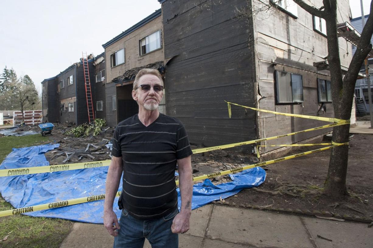 Kelly Britt, 56, is facing an end-of-February deadline to move himself, his wife and their two daughters out of the Courtyard Village Apartments, where renovations are now underway.