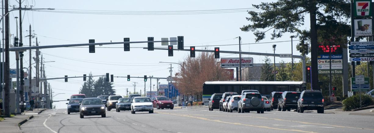 Clark County plans to use new data to launch a program to optimize the timing of traffic signals on its busiest corridors, including the intersection of Highway 99 and 99th Street.