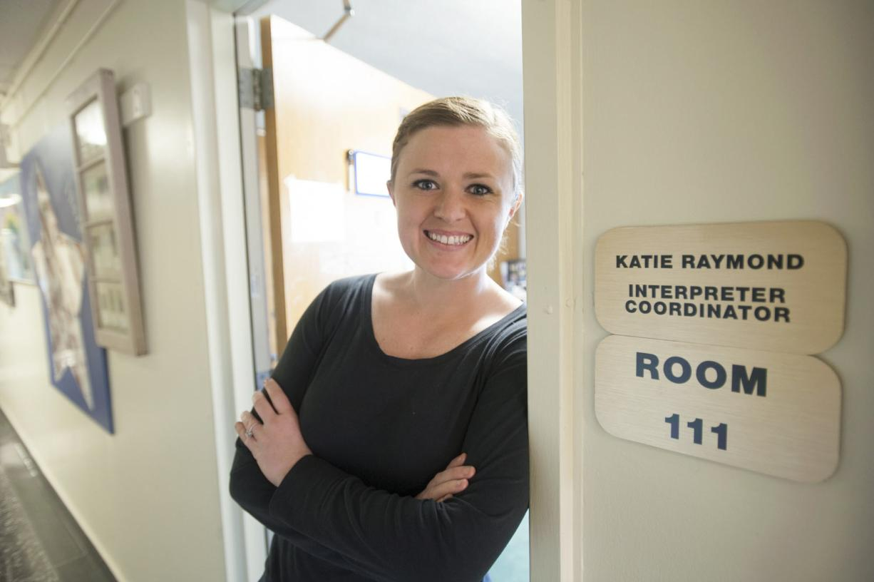 Katie Raymond at the School for the Deaf in Vancouver.