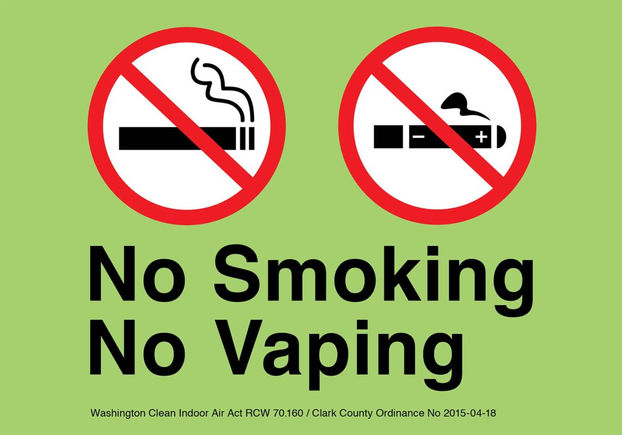 The Clark County ordinance restricting the use of electronic cigarettes in public places and places of employment goes into effect Monday.
