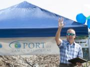 """David Ripp, executive director of the Port of Camas-Washougal, said the groundbreaking on waterfront park and trail improvements """"has been a long time coming."""""""